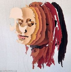 Different perspective: This portrait of Stephanie Tubbs Jones is viewed from an angle so the different layers can be seen Bts Design De Mode, Sculpture Portrait, 3d Portrait, Sculpture Head, Photo Sculpture, Art Plastique, Hidden Identity, Identity Art, Deconstructed Art