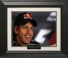 Sebastian Vettel Photo Matted and Framed