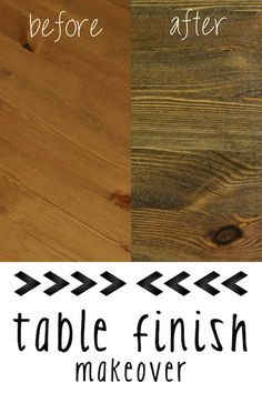 How to change the finish on a wooden table ~ tutorial