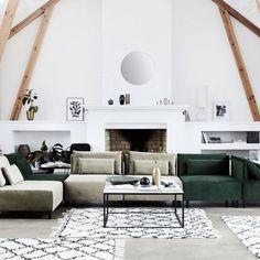 House Doctor Box sofa belunga green sofa two pillows polyester