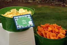 chip shots golf party food ideas -B. Lovely Events #golfparty