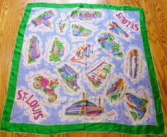 Vintage St Louis souvenir scarf Old Rock by St Louis, Study Photos, Old Rock, House On The Rock, Vintage Closet, Vintage Scarf, Vintage Ladies, 1950s, Vintage Items
