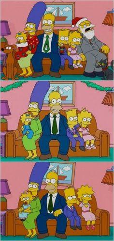 Time line do futuro da família Simpson
