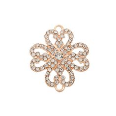 Rose Gold Tone Flower Connector, 30mm