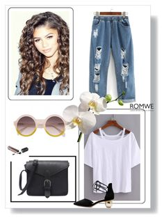 """""""ROMWE"""" by catarina-76 ❤ liked on Polyvore featuring Coleman"""