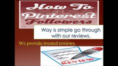 Are you looking to #buypinterestfollowers then this video url is just for you. By watch this video you able to know how to #gain large number of #followers in short time.
