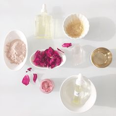 Pink + Gold. Oh how I love thee! French Pink Clay. Shimmering Gold Mica. Our new Luxe Body Oils. Golden Pink Sonali Lip Tint. Dried Roses from my Jardin des Fleurs. Feeling Inspired! #comingsoon #coconutoilfree #sonaliliptint