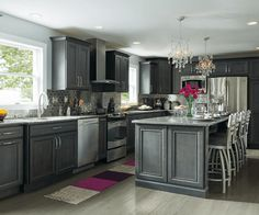 Decora Gray Kitchen Cabinets