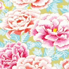 Rowan – Collective Limited Edition by Kaffe Fassett – Chrysanthemums in Pink Orange