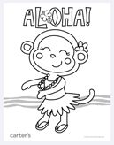 Printable Luau Coloring Page 3 Coolest Free Printables | Activities ...