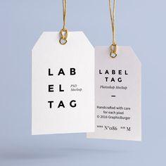 Free Label Tag PSD MockUp