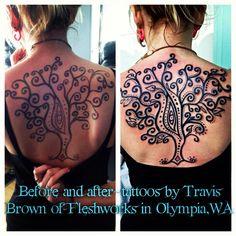 #Fleshworks#TravisBrown#Olympia#WA #tattoo #tattoos #love #ink #inked #Instagood#tattooed#follow#tattooist#coverup#art#design #photooftheday#like #instagood #sleevetattoo #handtattoo #chesttattoo #photooftheday #tatted #instatattoo #bodyart#tats #amazingink#tree