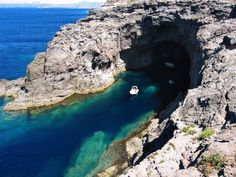 Italy, Sardinia, San Pietro Island, Carloforte, grotta di punta delle oche