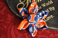 University of Illinois Illini Flower Hair by CraftyRibbonBowtique, $5.00