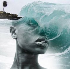 Artist Antonio Mora's double-exposure portraits merge human faces with ethereal landscapes and distinct architectural forms. #photography #art