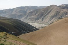 Valley in Faizabad district, Jowzjan Province, Afghanistan.