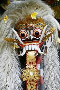 Balinese mythology, Rangda is Queen of the Leak was told often kidnap and eat children and lead an army against the wicked witch Barong (a symbol of good).