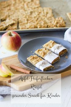 Apfel Rezepte Apfel-Haferflocken-Riegel - gesunder Snack Bathroom remodeling tips Article Body: If y Clean Eating Recipes, Clean Eating Snacks, Healthy Snacks, Healthy Recipes, Eating Healthy, Baby Food Recipes, Gourmet Recipes, Cookie Recipes, Bar Recipes