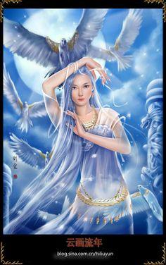 Picture of Liu Yun Fantasy Romance, Fantasy Art, Angel Artwork, Geisha Art, Fantasy Island, Fantasy Women, Pretty Wallpapers, Illustrations, Chinese Art