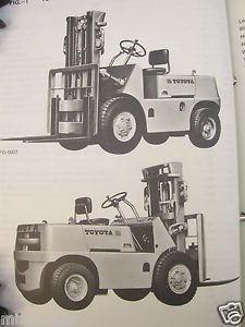 1971 Toyota Fork Lift Truck Forklift FD35 FD40 FG35 FG40 Parts Manual Catalog