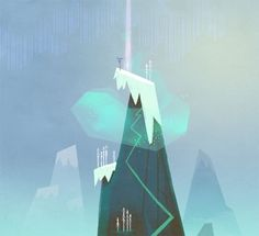 Backgrounds for Shaman's Quest animation project by Polina Tsareva, via Behance