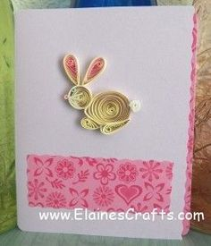 Quilled Easter Bunny Card.