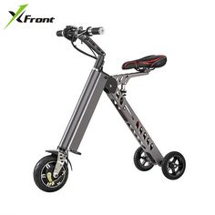 Original X-Front Brand 3 Wheel Foldable Electric Scooter Portable Mobility folding electric bike lithium battery bicycle -- This is an AliExpress affiliate pin.  Find out more on AliExpress website by clicking the VISIT button