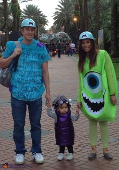 "Monsters Inc Family - would be way cute! especially if the mom was pregnant so ""mike"" was a little more round. lol"