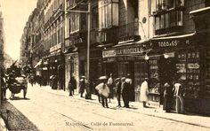 La calle de Fuencarral en 1910