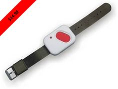 The HW-434 is a portable panic transmitter made by Skylink that you wear as a wrist watch. The device can act as a medical alert or a silent alarm. The transmitter is waterproof so you can wear it at all times, even while showering. It will transmit a signal to your receiver up to 100 feet away. http://www.1800doorbell.com/db800-gbase-slwpt.htm