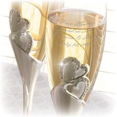 783cb008980 015936 - Everlasting Heart - Champagne Flutes set of 2 | Things Engraved ™  Engraved Wedding