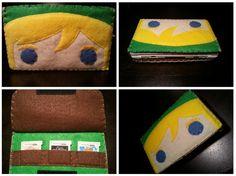 My updated Nintendo 3DS Link case! :D Find it on Etsy! https://www.etsy.com/listing/186788794/link-nintendo-3ds-case?