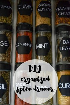 DIY Spice Drawer Org