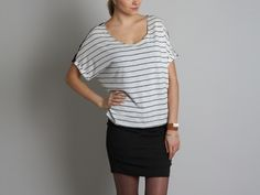 Azania Top by Stella & Jamie >> Cute top, love the sheer part on the back!