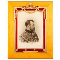 FABERGE Imperial Portrait Red Enamel Frame
