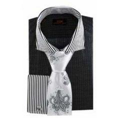 50cef806cee910 DS-1196 Black Men s Dress Shirt by Steven Land Steven Land Shirts