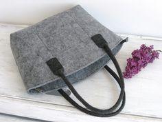 50% OFF in Grey! Elegant and Casual Felt Bag Tote Shoulder Bag Shopping Bag Handbag Storage Bag Fashion Design by BPStudioDesign on Etsy