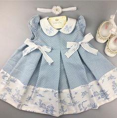 Baby Girl Dress Design, Baby Girl Dress Patterns, Baby Dress, Frocks For Girls, Little Girl Dresses, Little Girl Fashion, Kids Fashion, Cool Baby Clothes, Cute Dresses