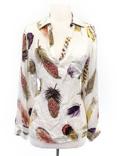 M by Marcus size M feather printed silk shirt * Bought it! Love the feathers even if I don't *need* this.