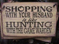 Shopping with you husband.  #humor