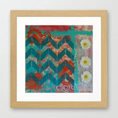 """""""May Flowers Always Line Your Path"""" Framed Art Print from The Studio at Cosmic Acres   $36"""