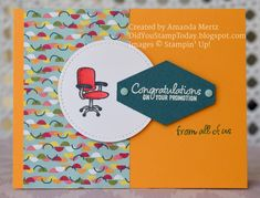 Promotion Congratulations - Stampin' Up! Welcome to the Team Welcome To The Team, Welcome Card, Promotion Card, Dots Candy, Birthday Cards For Him, Retirement Cards, Some Cards, Paper Pumpkin, Kids Cards