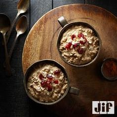 Overnight Peanut Powder Oatmeal from Jif®. Jif is gross but I will do this with my PB powder! Peanut Butter Oatmeal, Peanut Butter Recipes, Slow Cooker Recipes, Gourmet Recipes, Vegetarian Recipes, Snack Recipes, Peanut Powder, Great Recipes, Favorite Recipes
