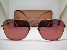 Authentic Ray-Ban RB3136 167/2K Caravan Bronze Copper/Red Mirror Sunglasses $229