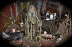 Feast your eyes on all the eerily elegant scenes entered in Grandin Road's Spooky Decor Photo Challenge Halloween Iii, Adult Halloween Party, Halloween Party Decor, Halloween House, Voodoo Halloween, Halloween Scene, Witch Decor, Spooky Decor, Voodoo Party