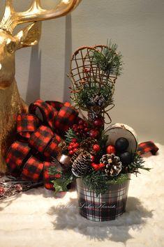 Noël Centre de Table Traditionnel Artisan Fleuriste
