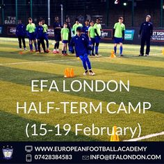 Register now for EFA London Half-Term Camp (15-19 February, from 9am-3.30pm) || The 1st day is free!>>> Call us on 07428384583! ⚽️ #WeAreEFA #EFAcamps #LondonTrainingCamps #FootballLondon #FootballTraining #FootballCampsLondon