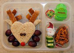 Christmas Bento. Am I too old to do Bento? Is it awkward to do Bento for myself...?