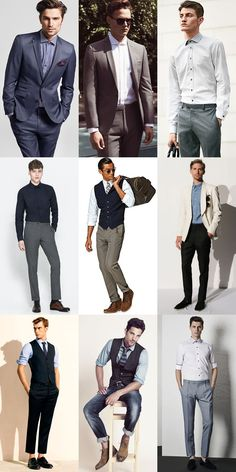 Summer Business Wardrobe Update: Lose The Accessories Such As Ties, Belts or Blazer Mens Fashion Casual Shoes, Mens Fashion Week, Mens Fashion Suits, Summer Business Outfits, Business Wear, Flannel Suit, Suit Vest, Boys Formal Wear, Well Dressed Men
