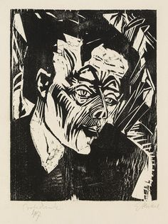 Erich Heckel - Roquairol (Bildnis Ernst Ludwig Kirchner)